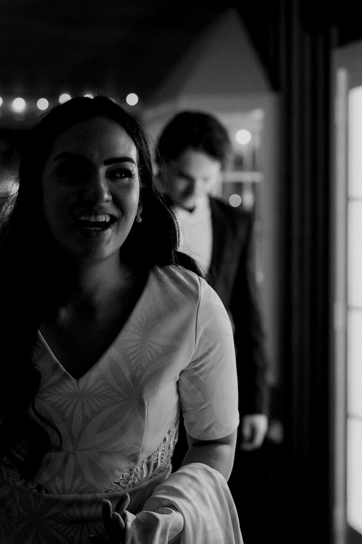 Kumeu bride laughing
