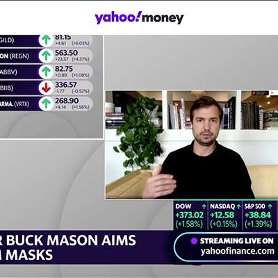 Buck Mason Co-Founder Sasha Koehn speaking on Yahoo Finance.