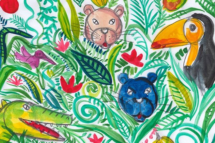 Malen & Zeichnen mit Wasserfarben und Buntstiften für Kinder (7-8)