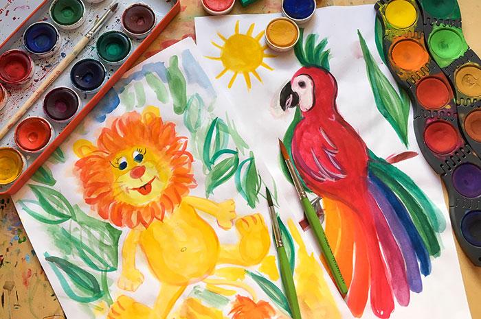 Malen & Zeichnen mit Wasserfarben und Buntstiften für Kinder (4-6)