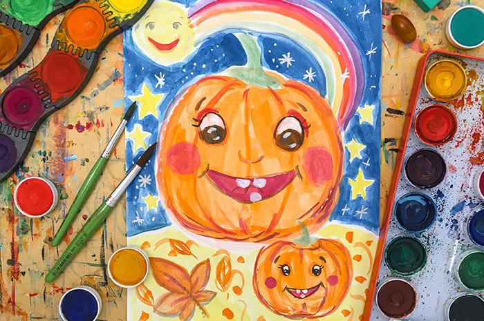 Halloween Malkurs für Kinder von 7-8 Jahren
