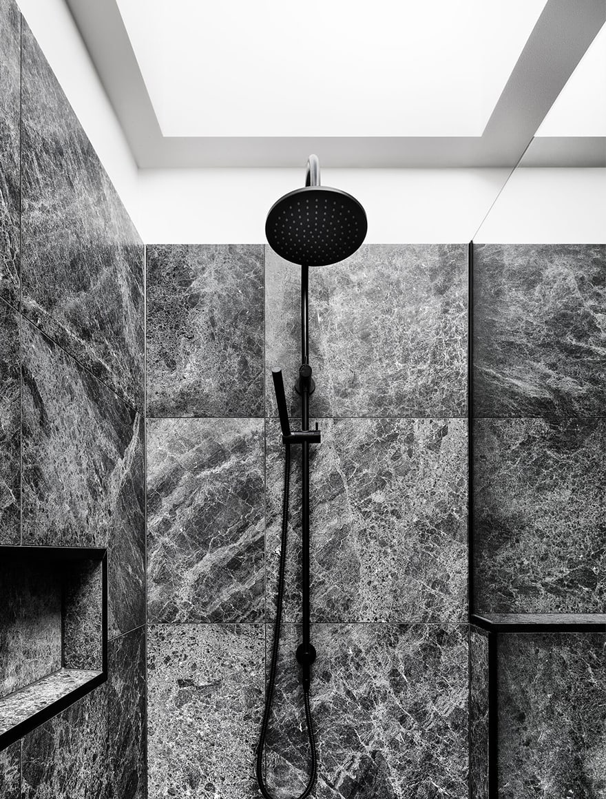 Fully tiled bathroom, Arthur, South Yarra