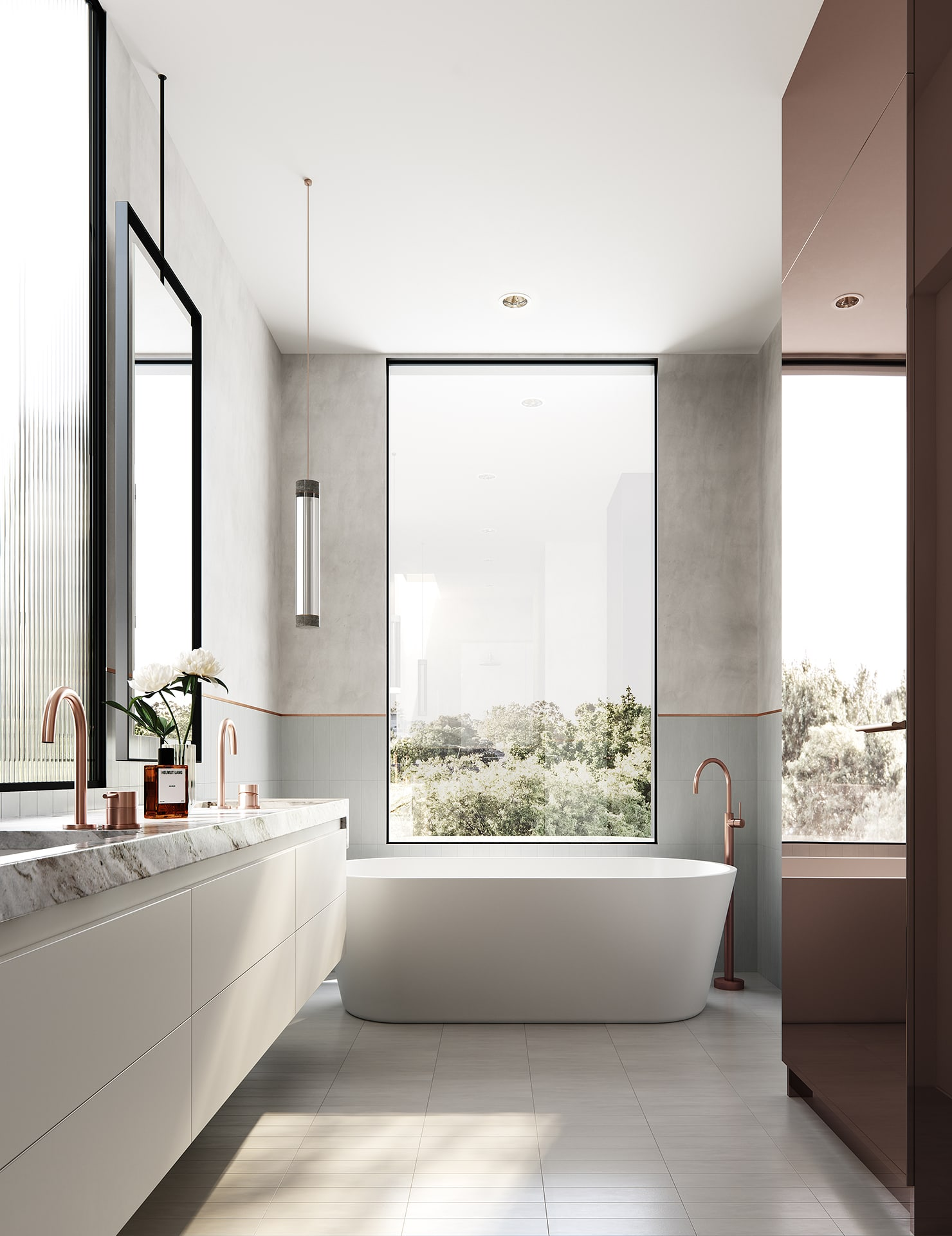 A bathroom after receiving the help of a property development consultant near South Yarra