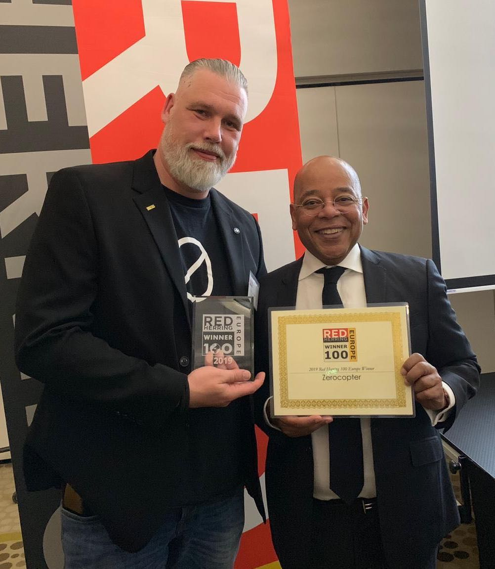 Zerocopter chosen as a 2019 Red Herring Top 100 Europe Winner
