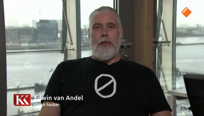 "Why am I interesting for criminal hackers? Edwin van Andel in Dutch TV show ""Knappe Koppen"""