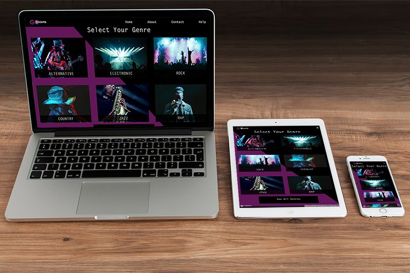 Laptop, Ipad and Iphone with example of website