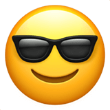 A smiling face emote with sun glasses