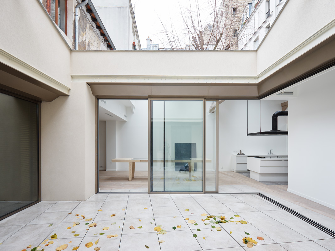 patio baie vitrée blanc
