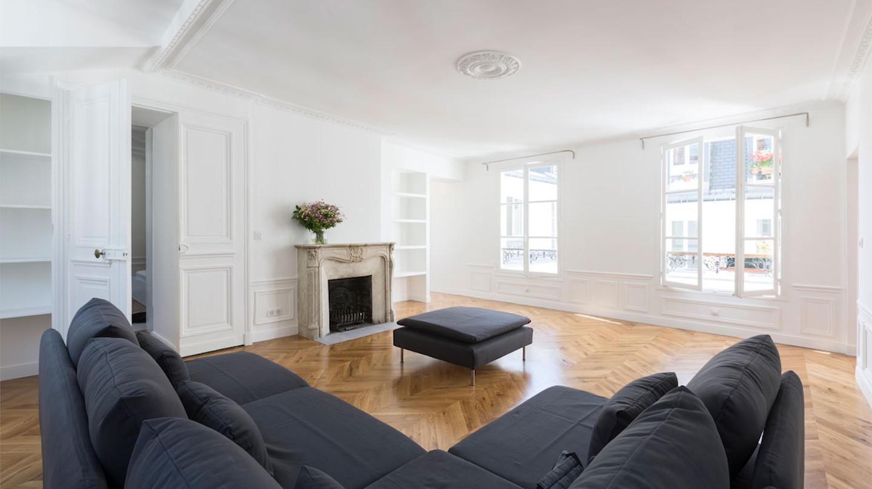 Rénovation astucieuse d'un appartement parisien de 120m2