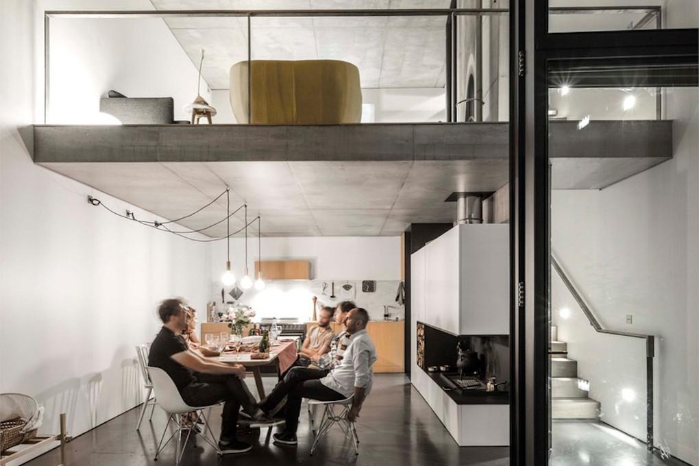 construction_maison_cuisine_étage_béton_blanc