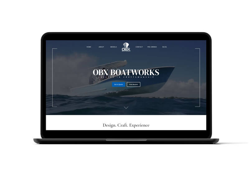 OBX Boatworks Website Design