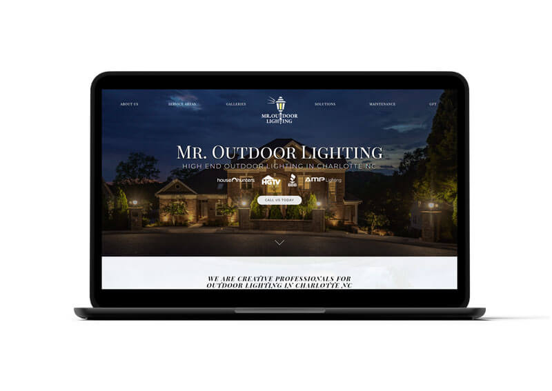 Mr. Outdoor Lighting Website Design