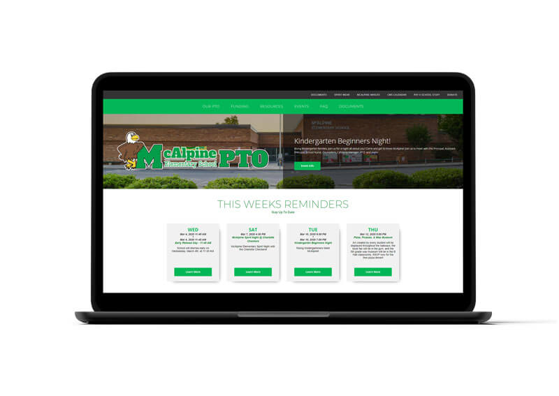 McAlpine Elementary Website Design