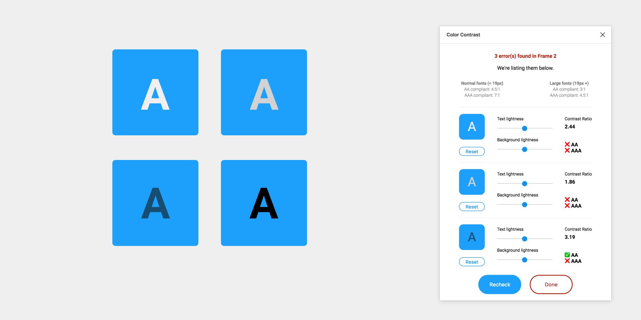 A11y - Color Contrast Checker