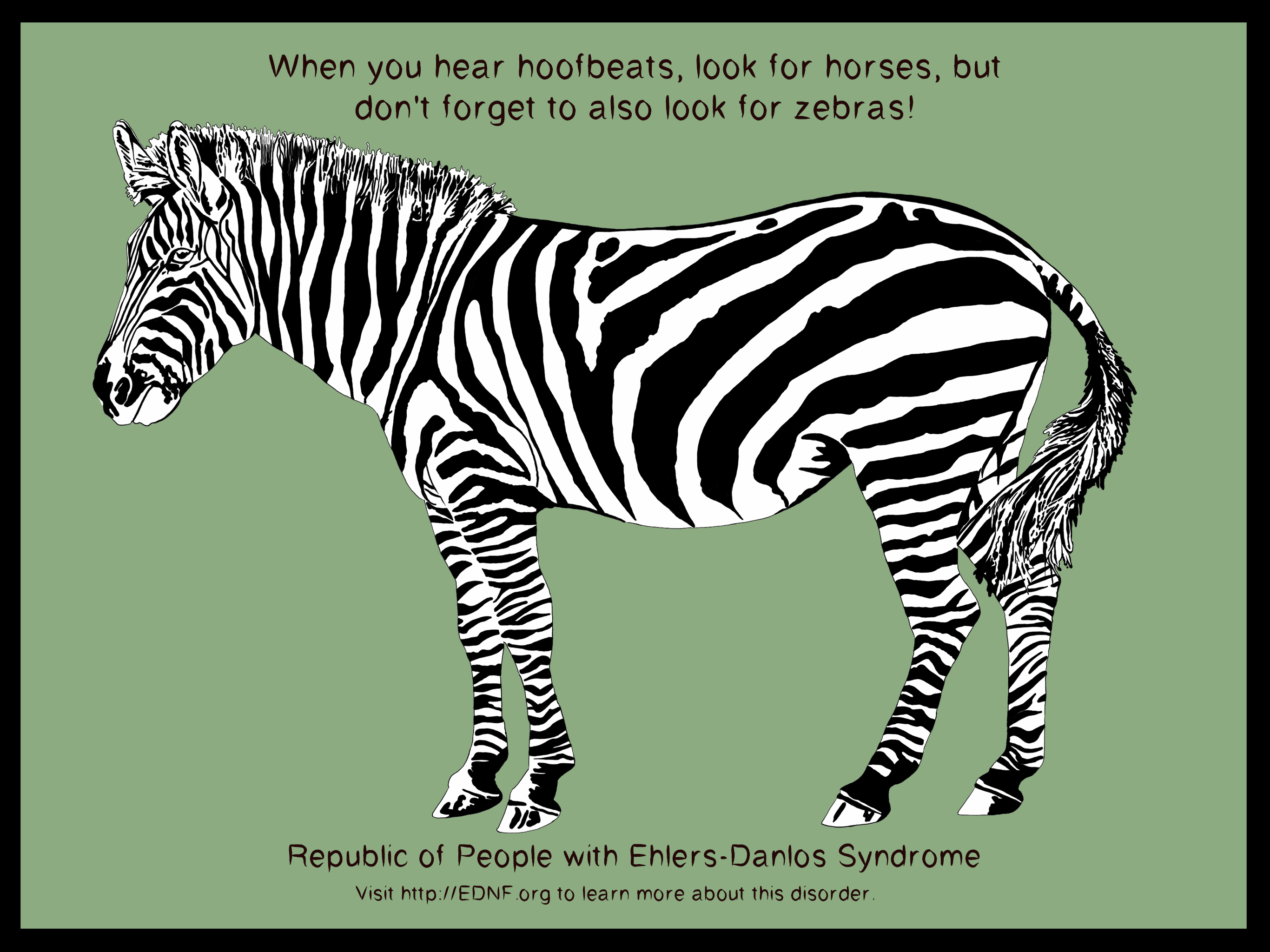 A picture for people coping with Ehlers-Danlos or other chronic illness.