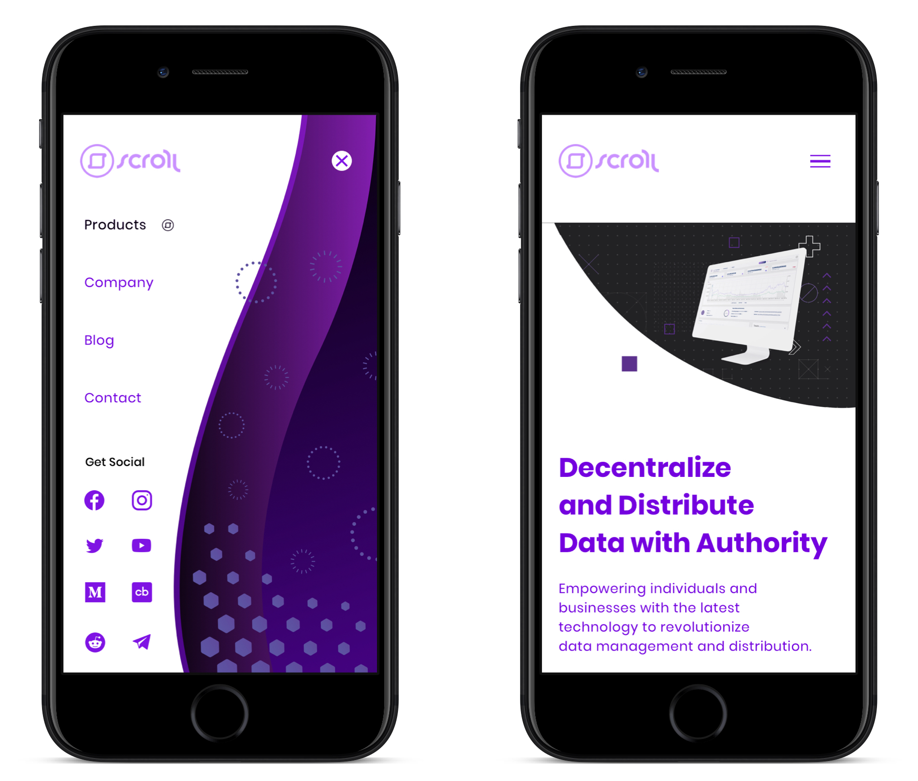 scroll-menu-mobile-mockup-image