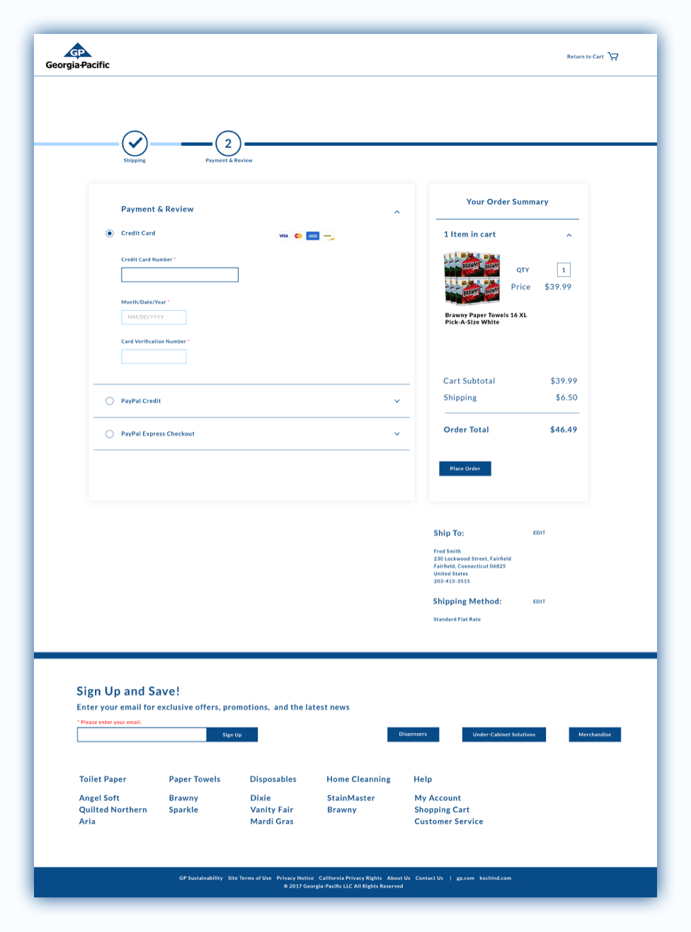 georgia-pacific-payments-and-review-ui-mockup