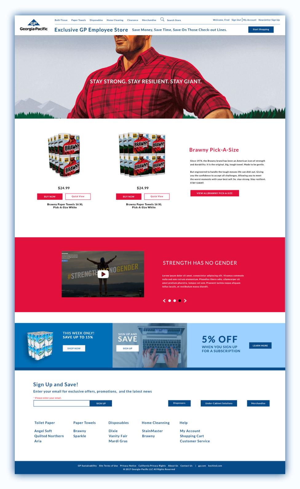 georgia-pacific-sbrand-product-page-ui-mockup