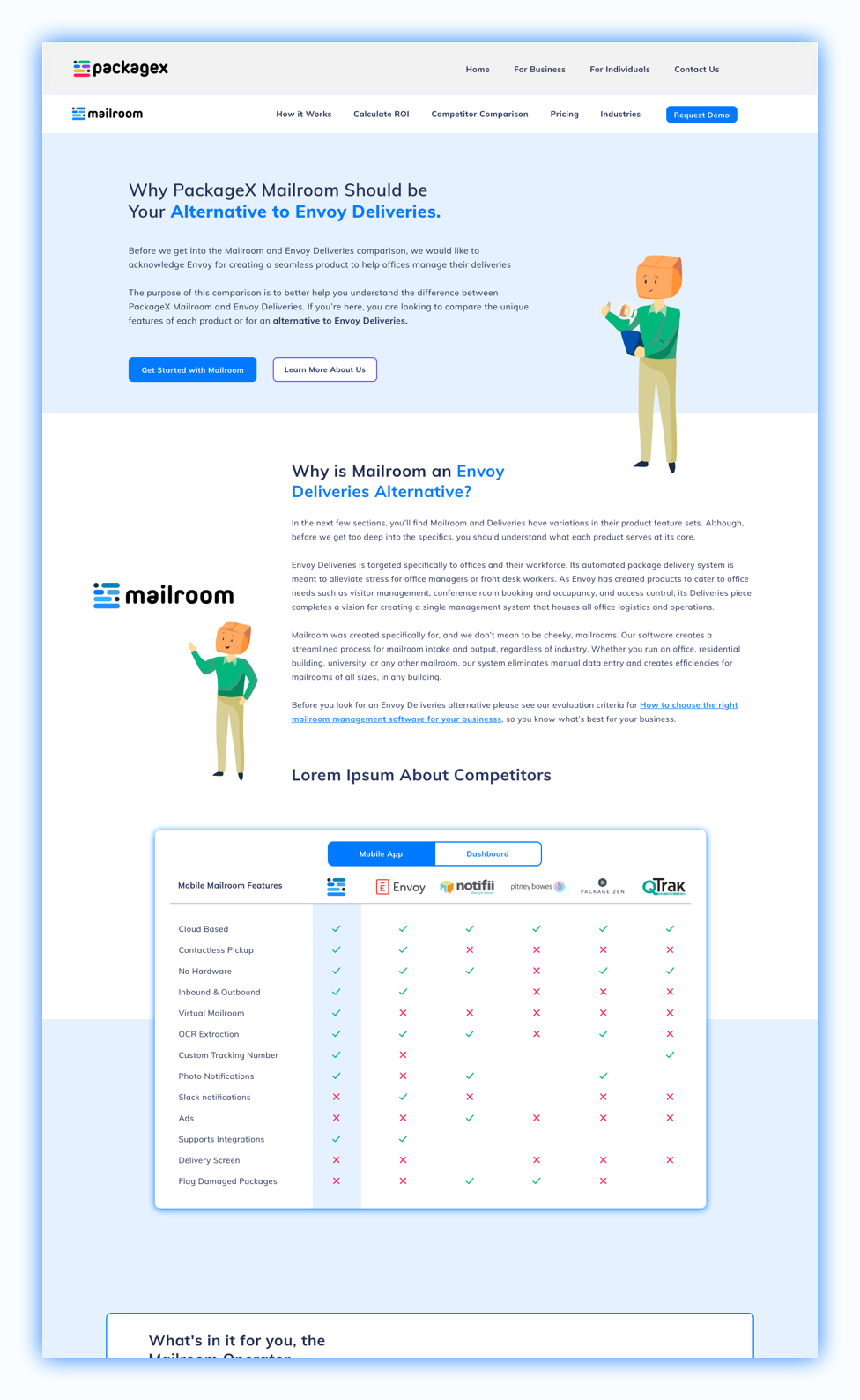 packagex-competitor-analysis-page-ui-mockup