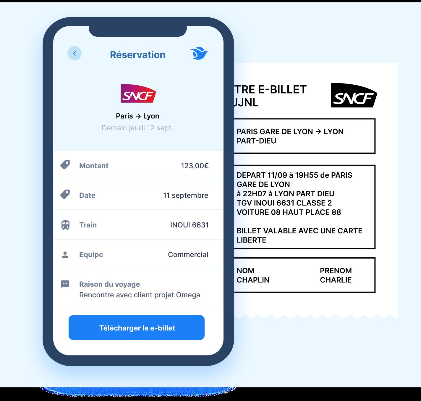 réservation train e-billet