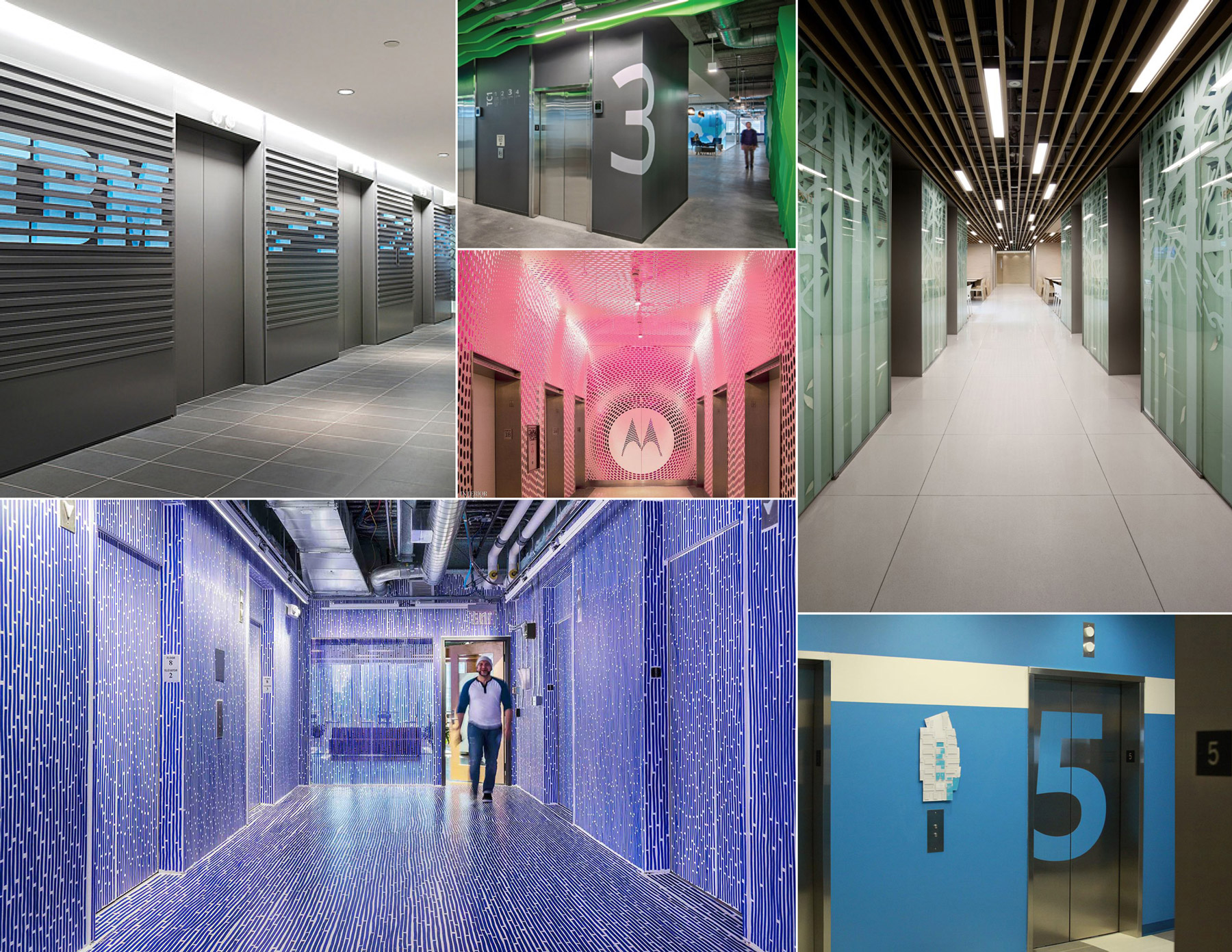 Qualcomm competitor analysis of other companies' environmental design for elevator lobbies