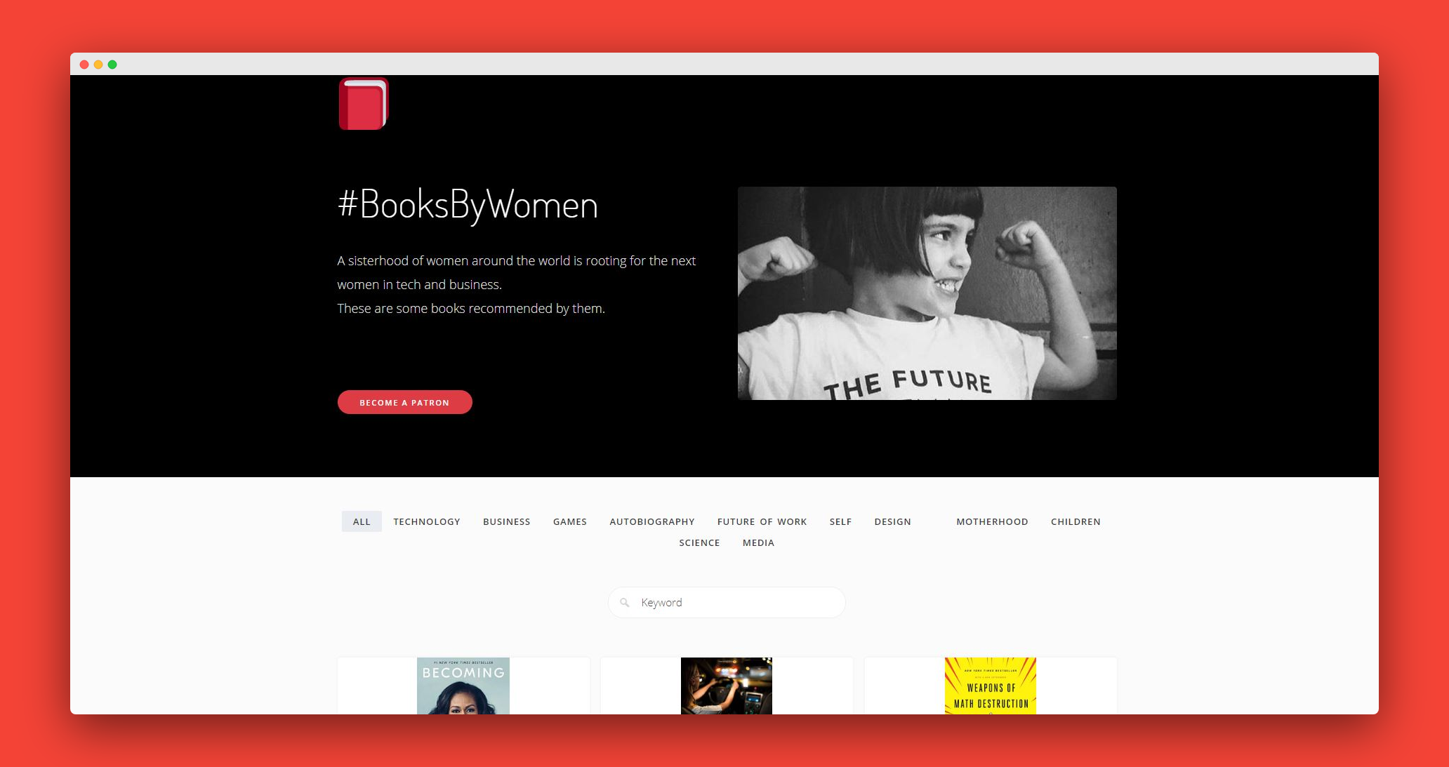 Crowdsourced and curated list of books by women