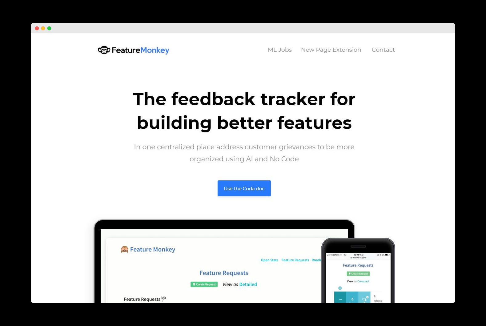 The feedback tracker for building better features