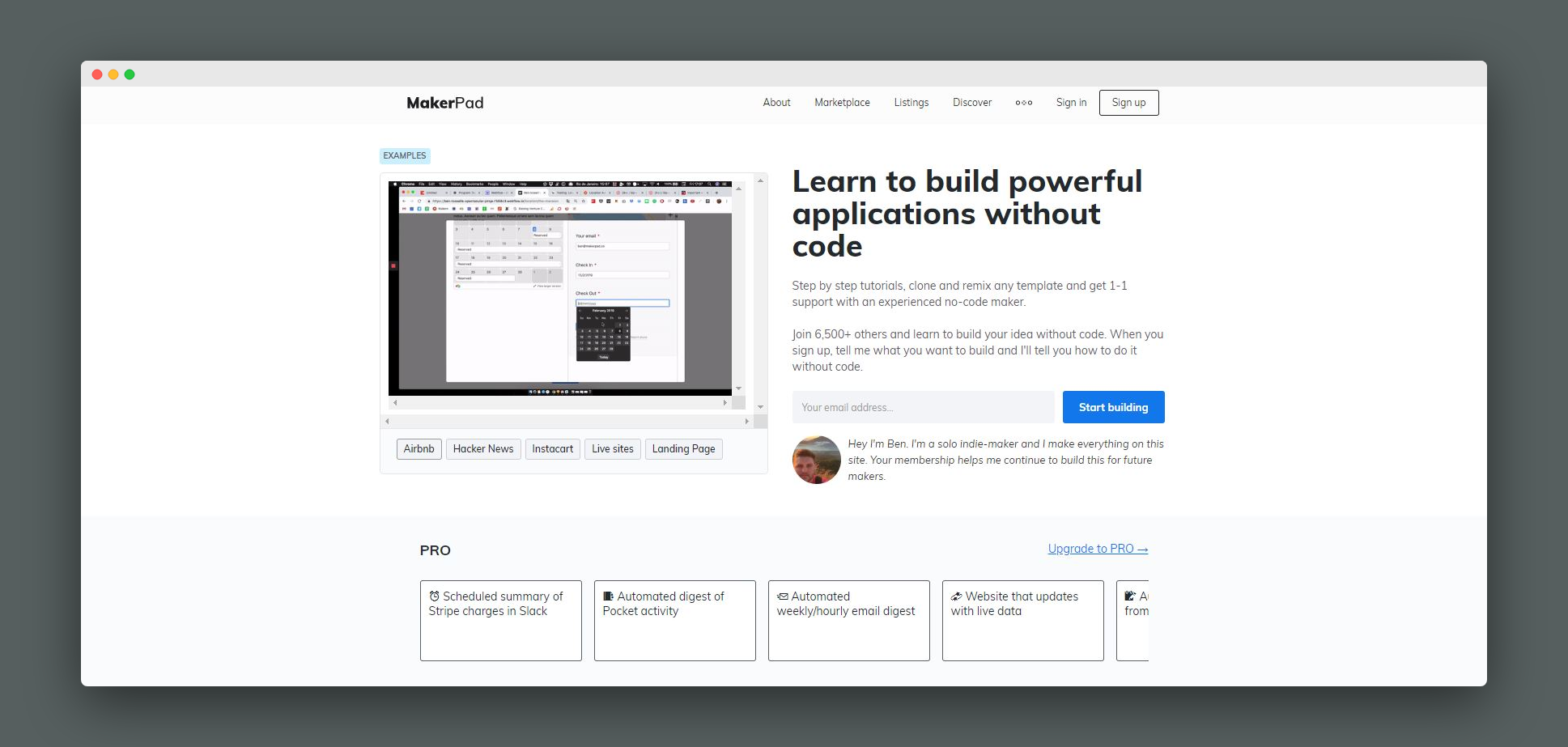 Learn to build powerful applications without code