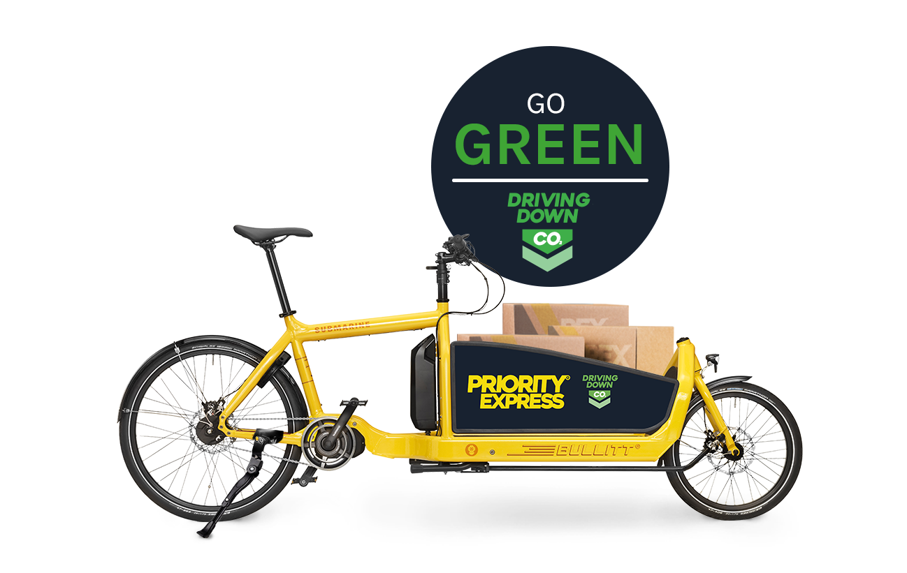 Green eco courier