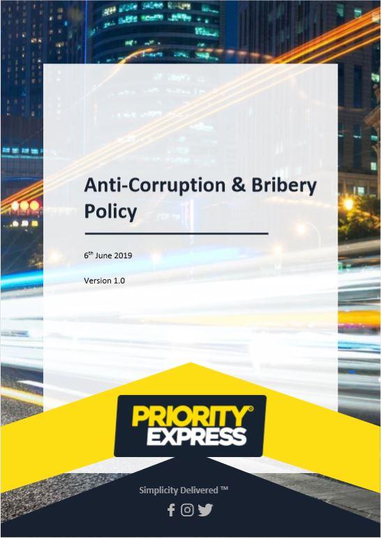 Anti-Corruption & Bribery Policy