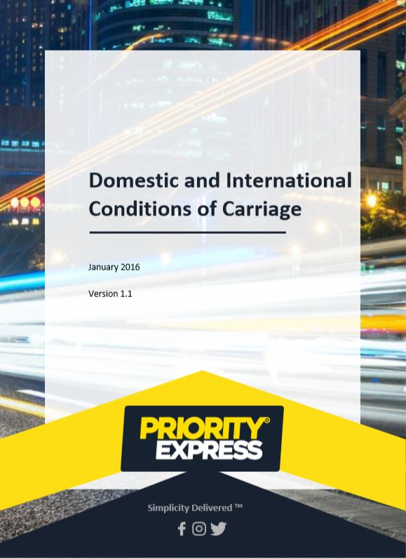 Domestic and International Conditions of Carriage