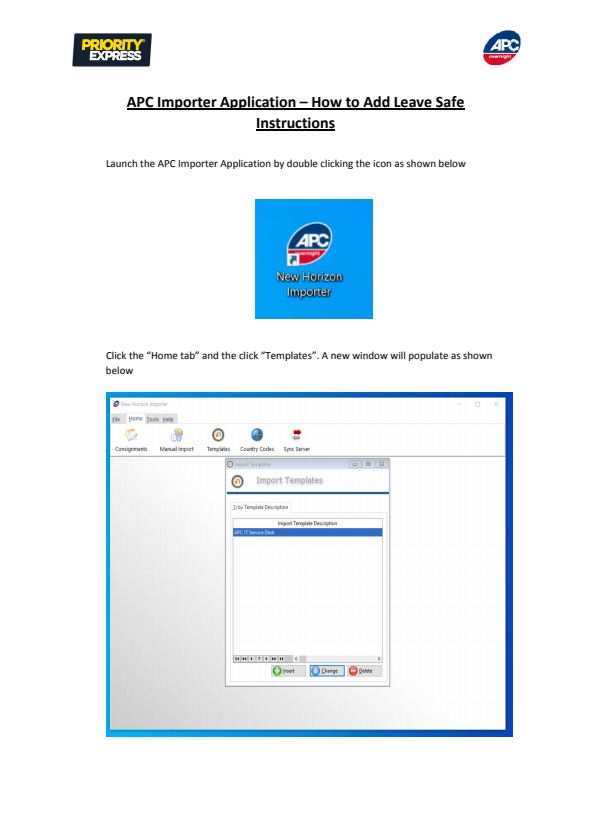 APC Importer Application