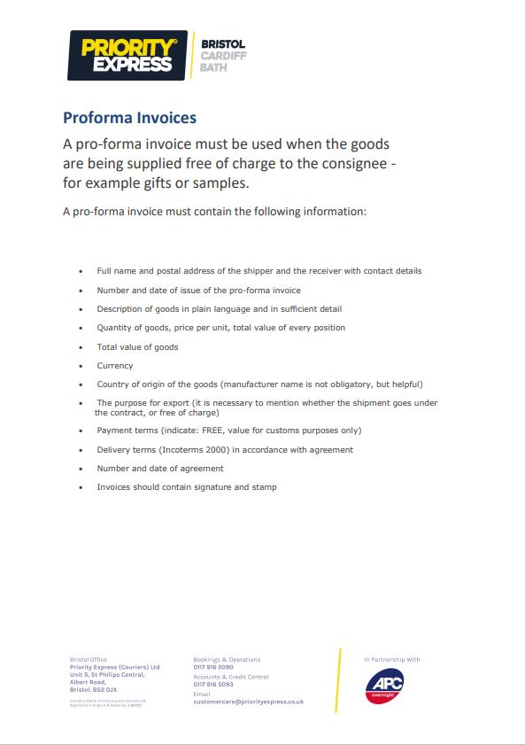 Proforma Invoices Guide