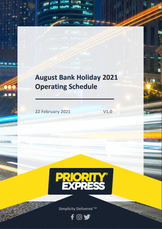 August 2021 Bank Holiday Operating Schedule