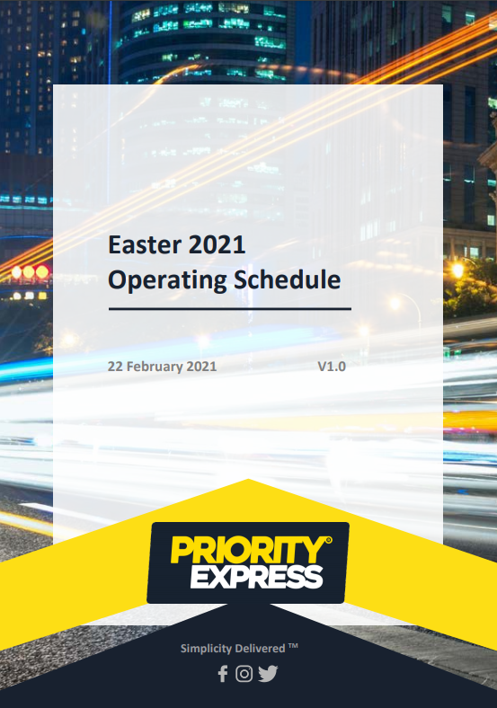 Easter 2021 Operating Schedule
