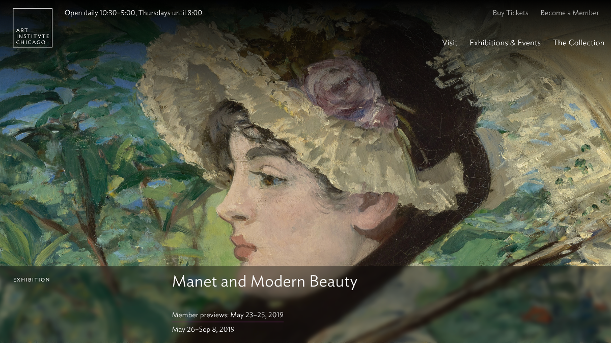 New Exhibit: Manet and Modern Beauty