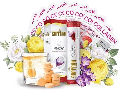 【Saffron Collagen Extra White 】có tốt không ? Thành phần +công dụng sản phẩm