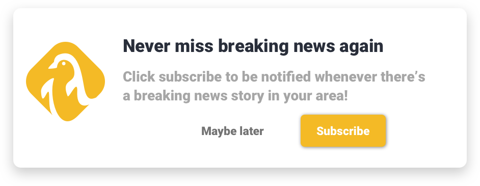 Example opt-in on news push notifications for publishers