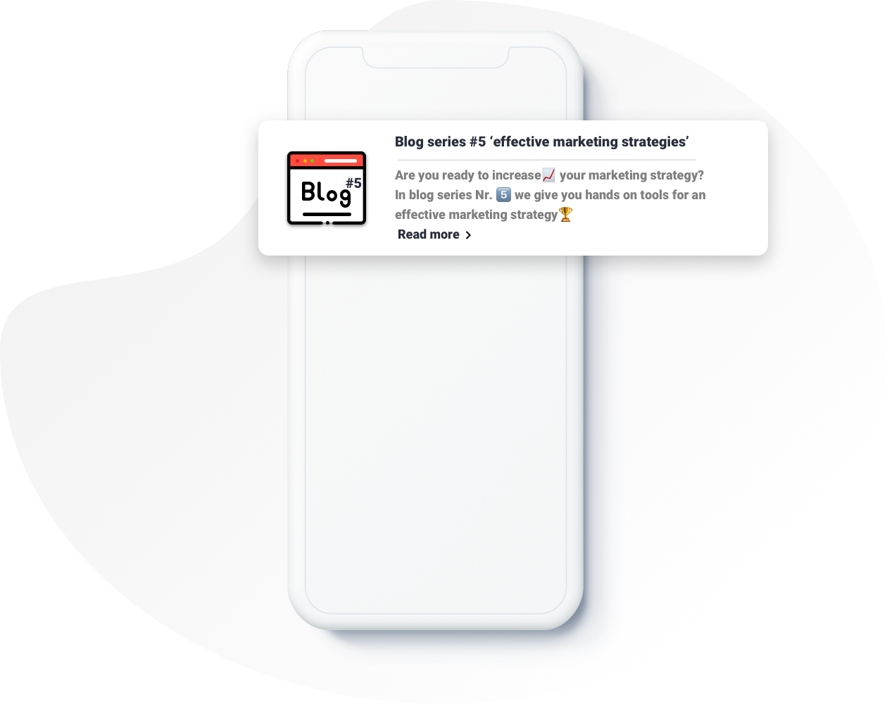 Example Push Notification for bloggers