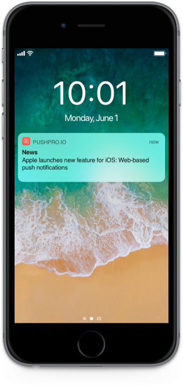 Web push notification for iOS