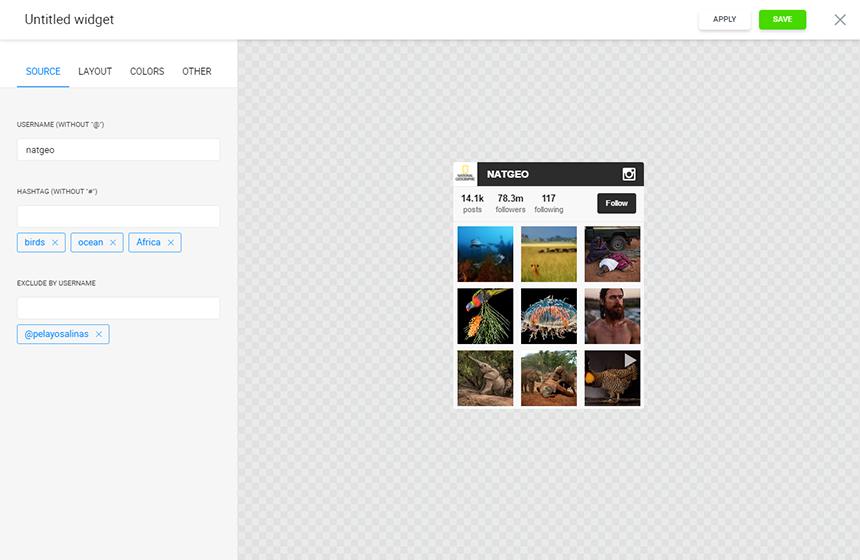 Screenshot of Elfsight Instagram Feed BigCommerce  App