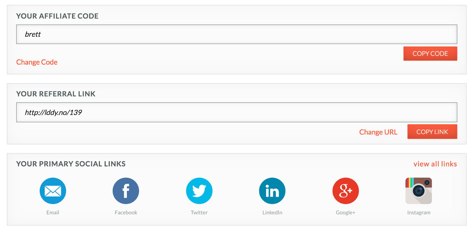 Schreenshot of LeadDyno dashboard BigCommerce App
