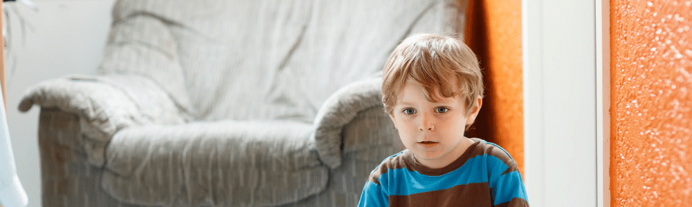 Image of child in a living room