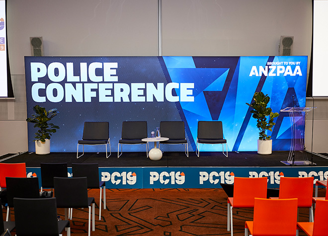 ANZPAA - Police Conference - Stage Design