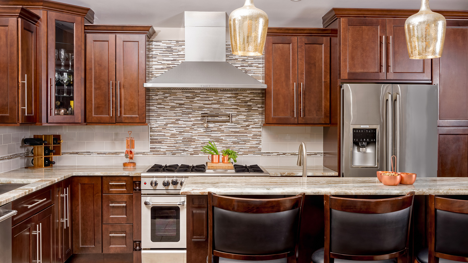 Chestnut cabinets are a versatile choice suitable for just about any design style.