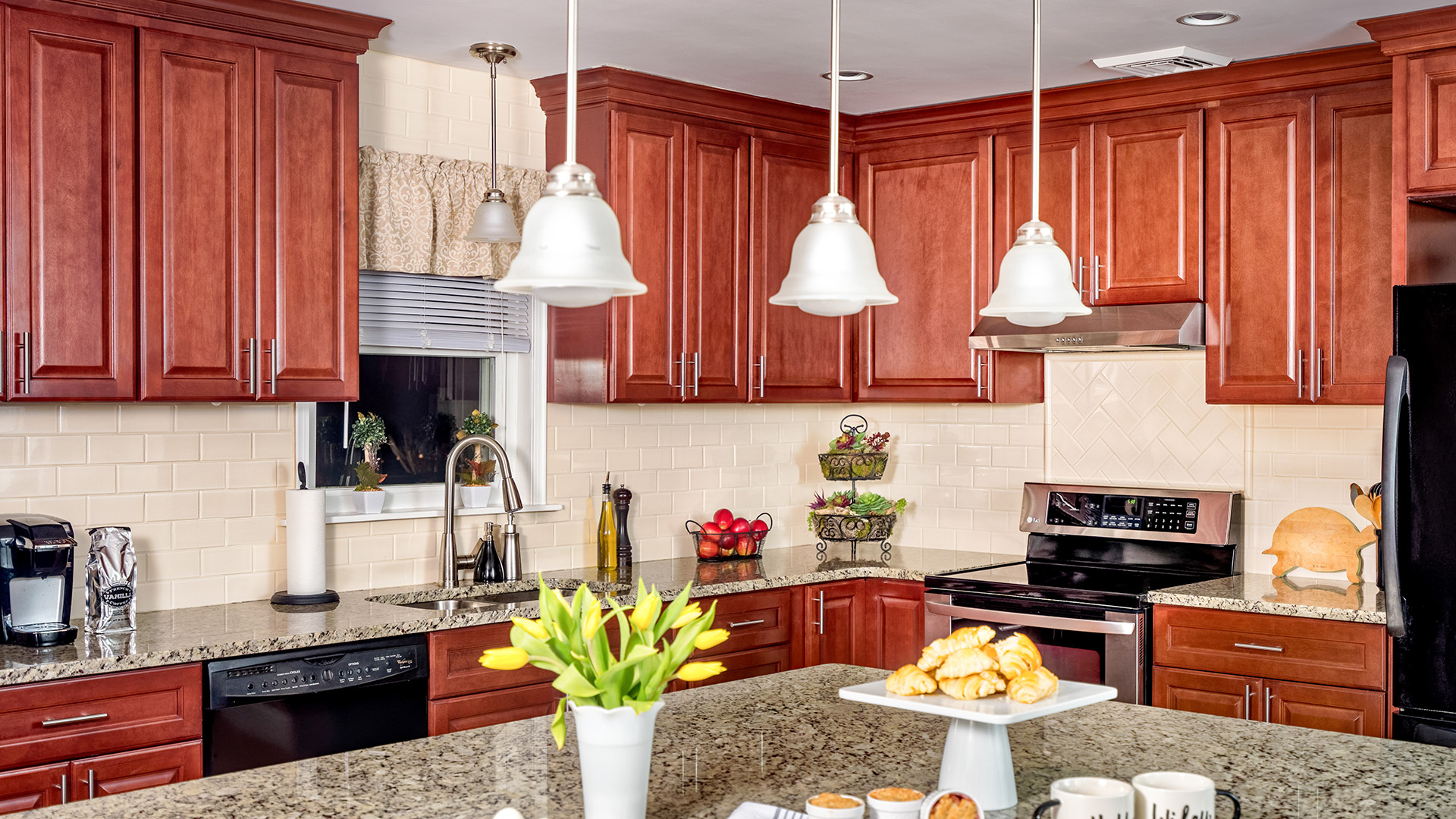 With Brandy cabinets, your kitchen will exude a warm old-world charm with modern conveniences.