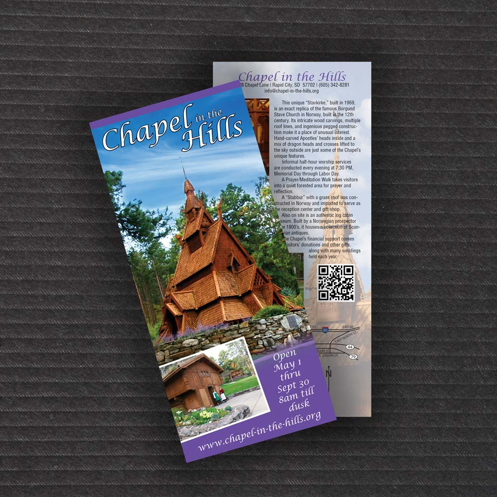 chapel of the hills rack card