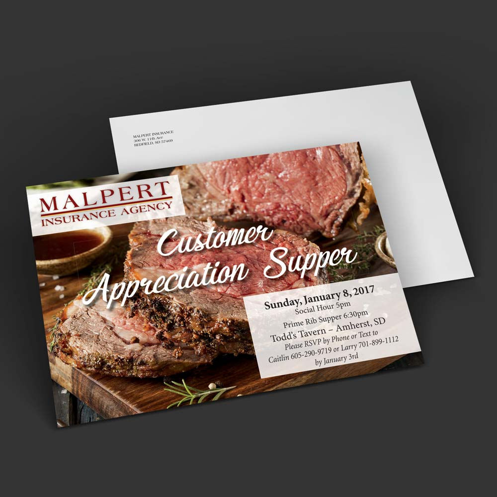 malpert insurance postcard