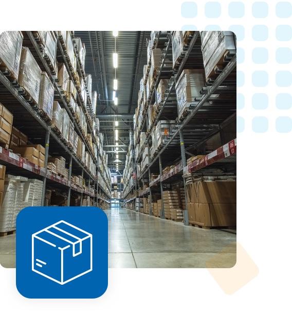 fulfillment warehouse shelves