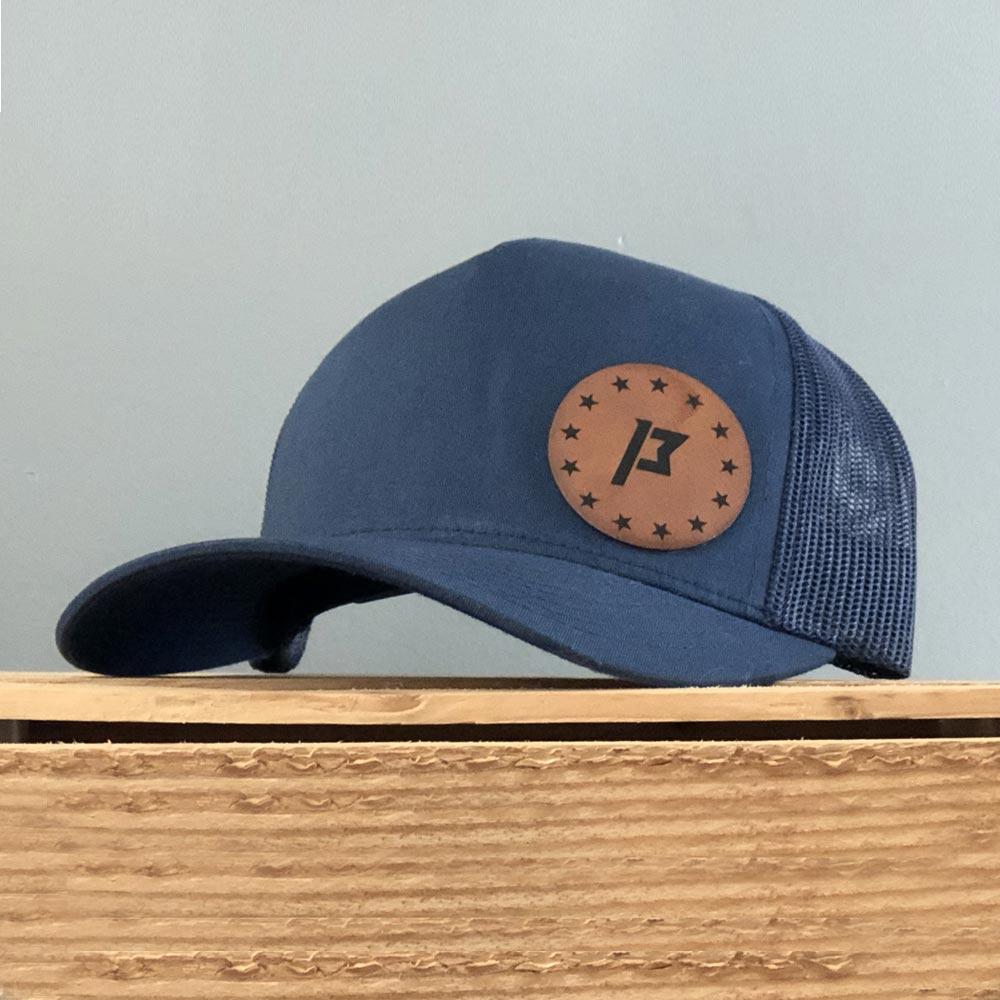 leatherette hat patch